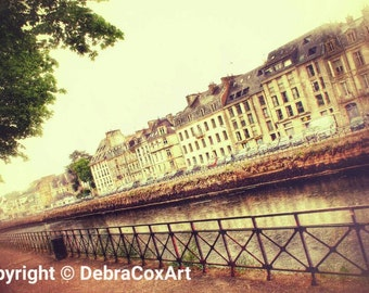 French Photography, Quimper Canal Wall Art, France Print, French Decor, Travel Photography, Rustic Textures - Nostalgic View