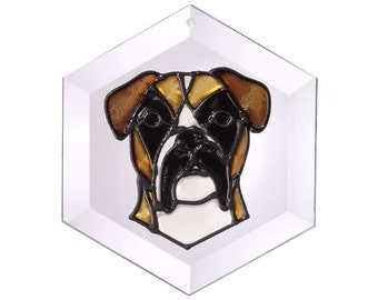 Boxer - Uncropped Ears Sun Catcher