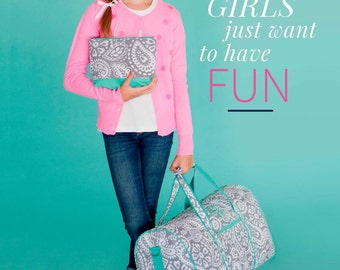 Monogrammed Duffel Bags for Kids and Teens