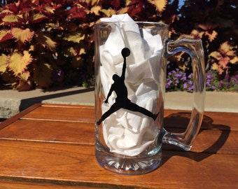 Michael Jordan Logo Glass Beer Mig