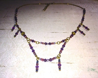 Necklace Baroque double row