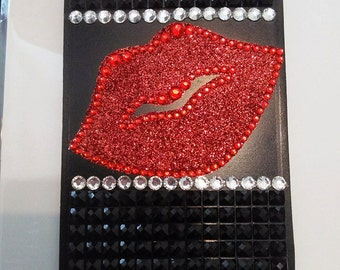 Kiss Bling Luggage Tag
