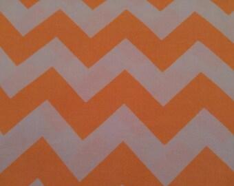 Fabric, Neon Orange Chevron Fabric by Riley Blake, chevron, Clearance