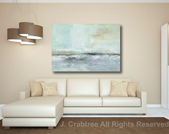 "Large Abstract Painting Seascape giclée print of Painting, blue painting ""Whispering Sea"" CRABTREE PRINTS"