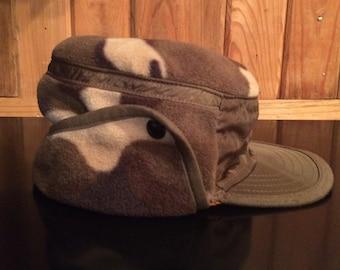 Kids Camo Hunting Hat, Childs Hunter Orange / Camo Reversable Hunting Hat, Childs Hunting Hat, Infant Hunting Hat,
