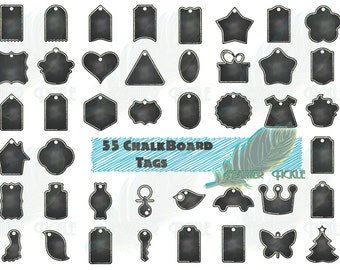Sale!!!80% OFF!!!   55 Printable ChalkBoard Tags!!