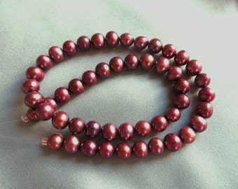 7mm Rose Plum Freshwater Pearls - 50 Pearls