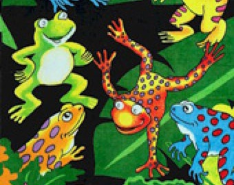 Frogs Beach Towel