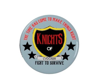 Knights of Cydonia - Muse -  Pin Back Badge - Fridge Magnet - Music - Band - Words - Lyrics