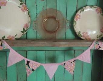 Paisley Pink Bunting