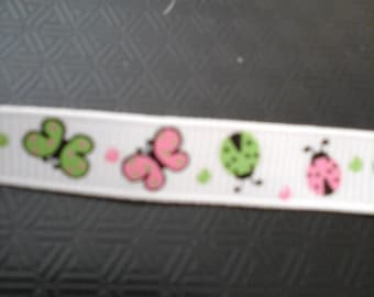ladybugs and butterflies ribbon