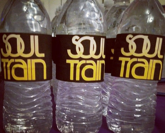 Soul Train Party Water Bottle Labels Bottled Water Wrappers