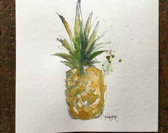 Ripening pineapple print 3 12x12in