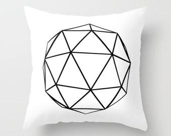 Geometric Throw Pillow, White Abstract Pillow, Art Pillow, Cushion Cover, Decorative Pillows, Decorative Throw Pillows, Modern Pillow Covers