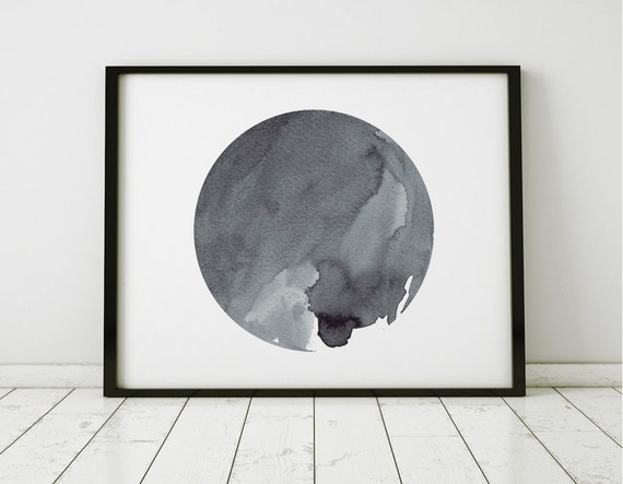 Abstract wall art minimalist watercolor painting oversized for Minimalist wall painting