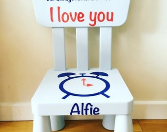 Time out chair - personalised chair- naughty chair- naughty step - childrens chair- pink chair- blue chair- green chair