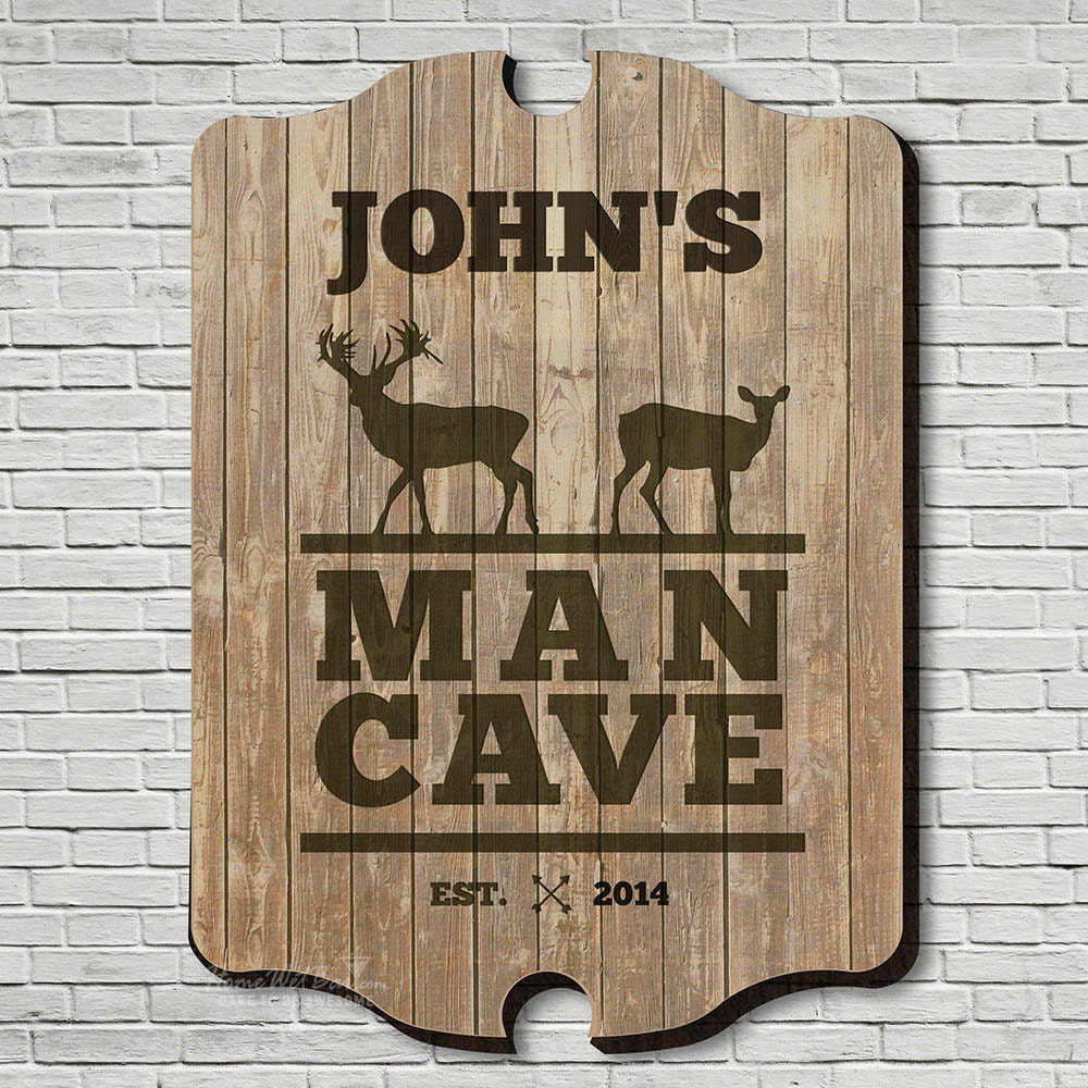 stags only custom man cave sign brown hunting sign hunting. Black Bedroom Furniture Sets. Home Design Ideas