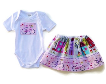 "Baby girls skirt outfit, Clothing for baby girls, size 3,months, ""READY TO SHIP"""
