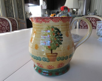 ITALY ITALICA ARS Art Pottery Pitcher