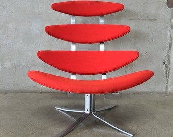 Mid Century Danish Modern Corona (EJ5) Chair by Poul Volther for Erik Jorgensen