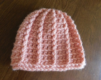 Pink Vertical Stripes Beanie