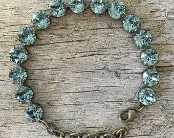 Swarovski Crystal 8mm Bracelet Ocean Blue