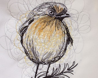 Bird  Machine embroidery design instant download