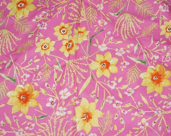 Sunshine Jasmine Linen Cotton Blend  Fabric Free Spirit Dena Designs   BTY