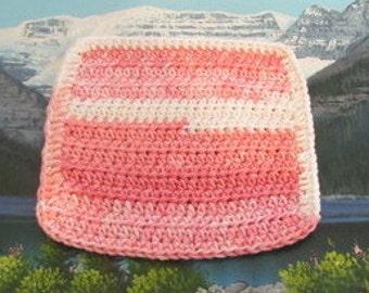 Hand crochet cotton dish cloth 7.5 by 7 CDC 010