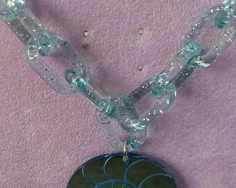 Blue Seashell Necklace