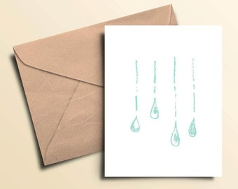 Rainy Day Note Cards – Boxed Set of 10 With Envelopes
