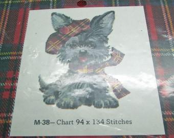 Jean McIntosh Petit Point Kit Scottish Terrier Dog Schnauzer  M 38 94 x 134 Stitches Cotton Treads