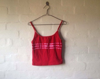 tie-dye red cropped singlet