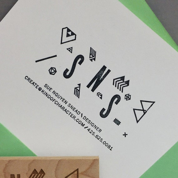 Modern Style - BUSINESS CARD Stamp
