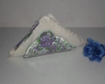 Napkin stand napkin holder glass Germany, 80 s