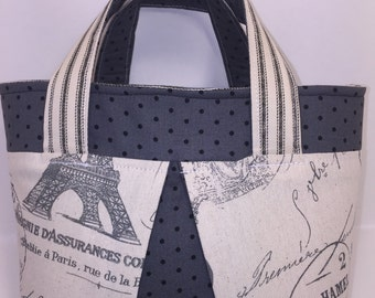 paris tote bag etsy. Black Bedroom Furniture Sets. Home Design Ideas