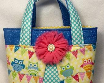 Owl bag, Owl scripture bag ,Small tote, Scripture bag, Bible bag, LDS scripture bag