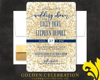 GOLDEN CELEBRATION . shower invitation