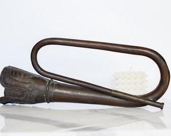 Artisanal, hand-embellished trumpet