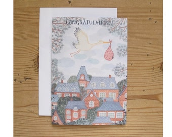 Greetings Card - New Baby