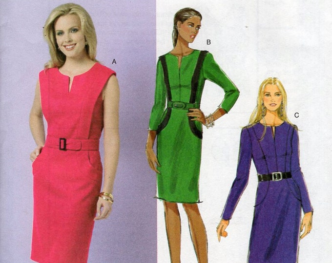 Free Us Ship Sewing Pattern Butterick 5521 Semi Fitted Lined Dress Size 6 8 10 12 Bust 30 31 32 34 Uncut New Out of Print 2010