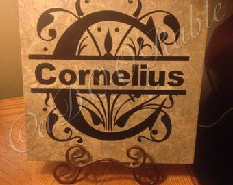 12''x12'' personalized tile