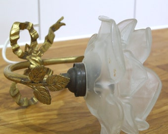 French Glass Flower wall sconce