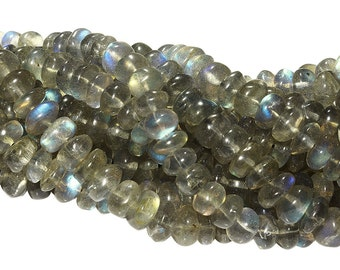 14 1/2 IN Strand 6 - 6.5 mm Labradorite Rondelle Smooth Gemstone Beads (LB100108)