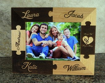 Together We Make A Family Puzzle Picture Frame
