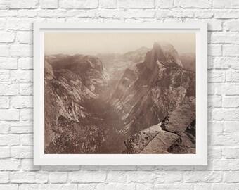 Yosemite - Yosemite Valley - Half Dome - Carleton Watkins - Black and White - Landscape Photograph - Fine Art Photograph - Park