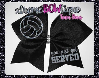 Volleyball Bow, Volleyball gift, Custom Volleyball Bow, Volleyball Team Bows, Personalized Volleyball bow