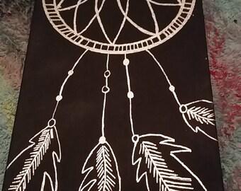 Feather Dream Catcher Canvas