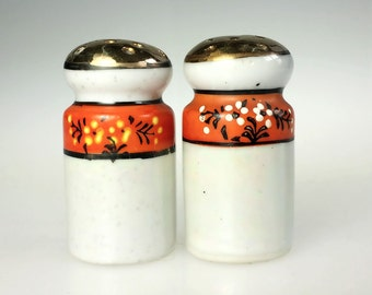 Iridescent Moriage Moriagi Salt Pepper Shakers Oriental