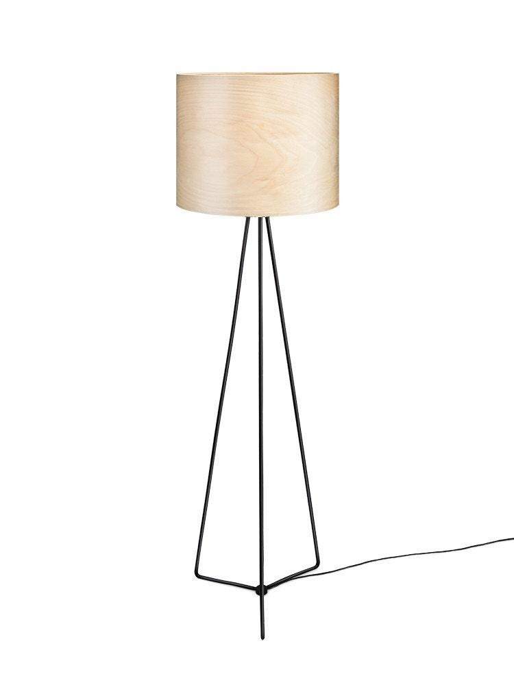 Floor Lamp Veneer - Natural Wood Veneer - Finnish Birch Tree ...